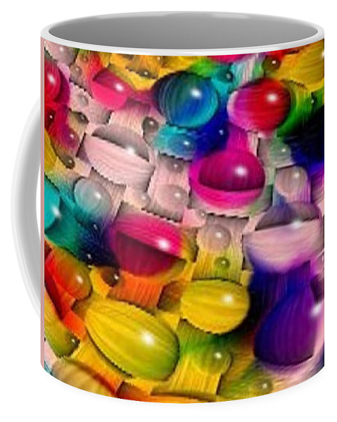 Wicker Coffee Mug featuring the photograph Wicker Marble Rainbow Fractal 2 by Tim Allen