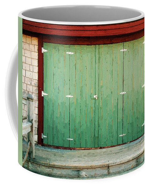 Barn Coffee Mug featuring the painting Wide Barn Door by RC DeWinter