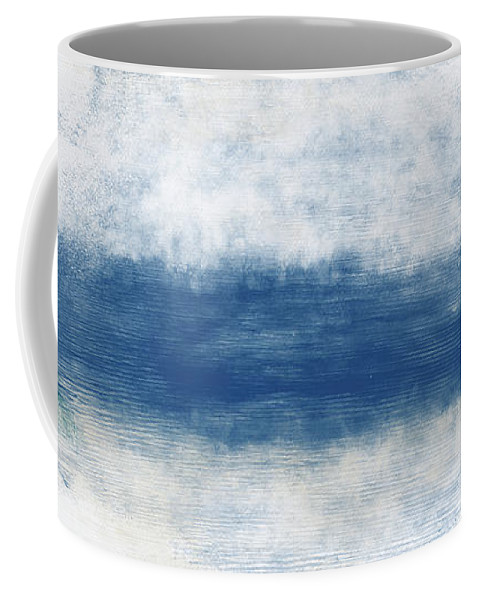 Beach Coffee Mug featuring the mixed media Wide Open Ocean- Art by Linda Woods by Linda Woods