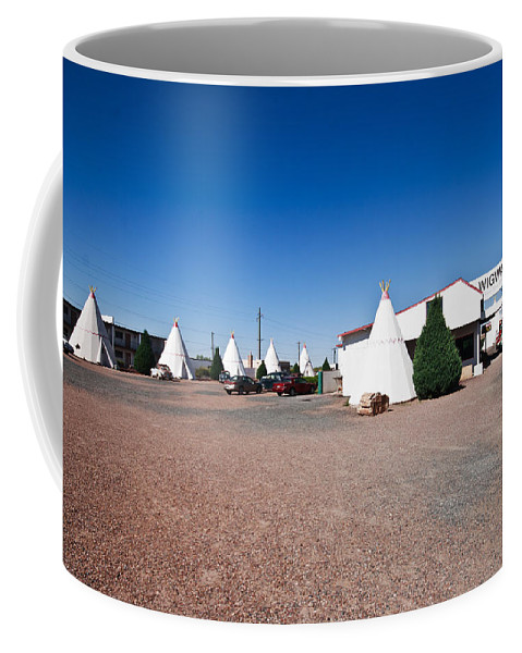 66 Coffee Mug featuring the photograph Wigwam Motel #2 by Robert J Caputo