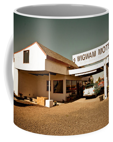 66 Coffee Mug featuring the photograph Wigwam Motel by Robert J Caputo