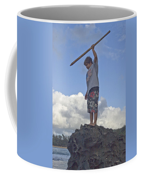Flag Coffee Mug featuring the photograph Wild Boy In Paradise by Robert Ponzoni