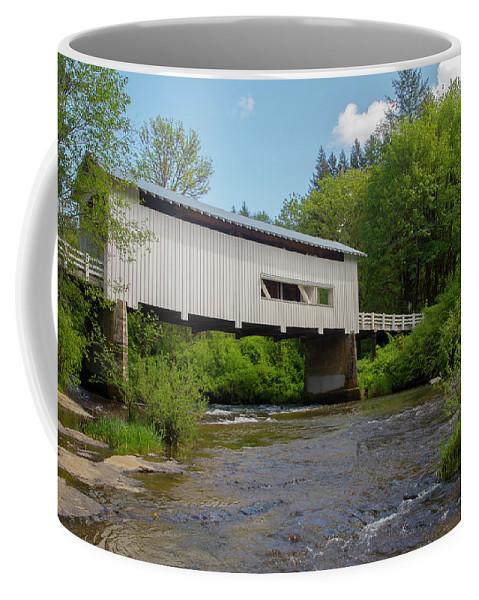Oregon Coffee Mug featuring the photograph Wild Cat Bridge No. 2 by Matthew Irvin