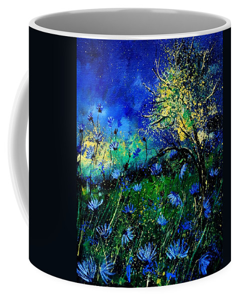 Poppies Coffee Mug featuring the painting Wild Chocoree by Pol Ledent