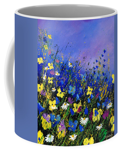 Flowers Coffee Mug featuring the painting Wild flowers 560908 by Pol Ledent