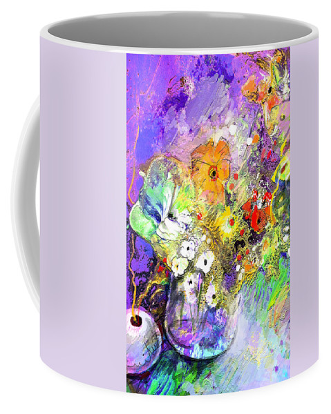 Still Life Coffee Mug featuring the painting Wild Flowers Bouquet 02 by Miki De Goodaboom