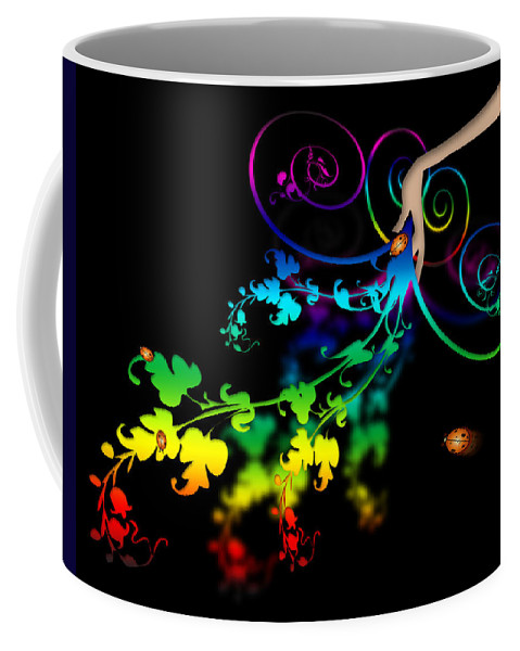 Abstract Coffee Mug featuring the digital art Wild Flowers by Svetlana Sewell