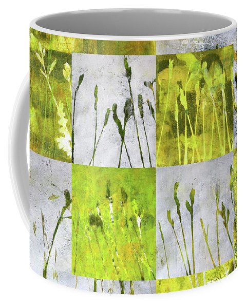 Wild Grass Collage Coffee Mug featuring the painting Wild Grass Collage 3 by Nancy Merkle