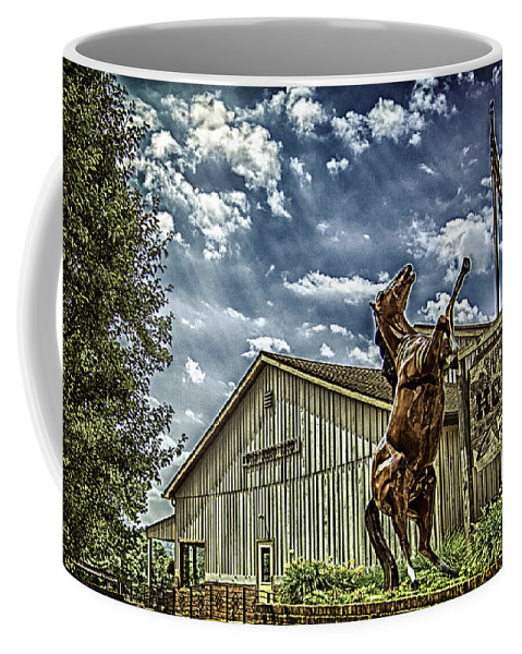 Horse Coffee Mug featuring the photograph Wild Horse by Shirley Tinkham