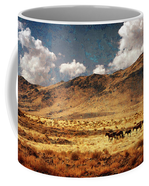 Wild Coffee Mug featuring the photograph Wild Horses - Nevada by Steve Ellison