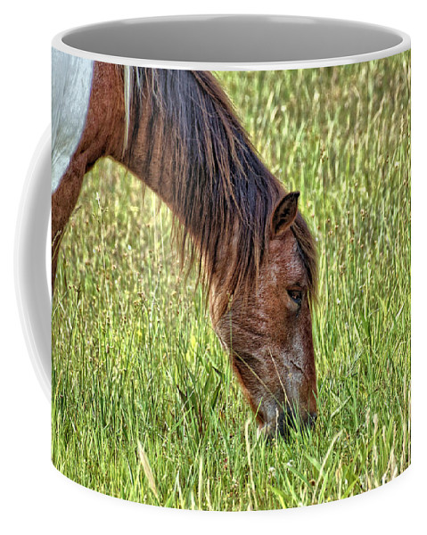National Parks Coffee Mug featuring the photograph Wild Horses Of Assateague 3 by John Trommer