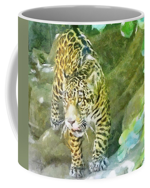Wild Coffee Mug featuring the painting Wild In Spirit by Jeffrey Kolker