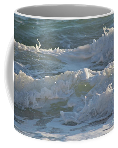 Balearic Coffee Mug featuring the photograph Wild Mediterranean Waves by Ingela Christina Rahm