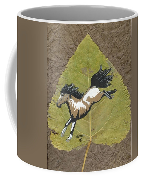 Wildlife Coffee Mug featuring the painting Wild Mustang #3 by Ralph Root