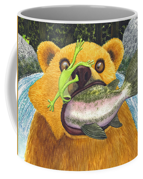 Bear Coffee Mug featuring the painting Wild Ride by Catherine G McElroy