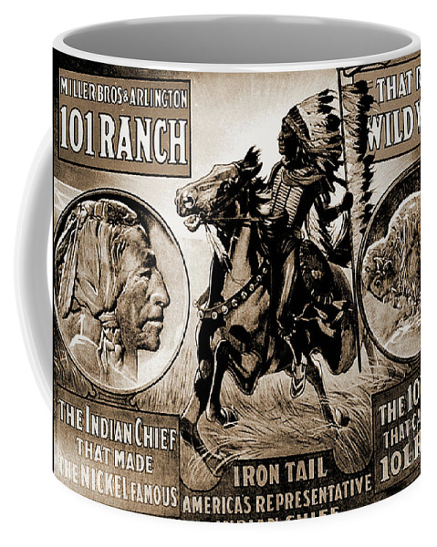 Buffalo Coffee Mug featuring the photograph Wild West Poster by Gary Wonning