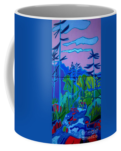 Landscape Coffee Mug featuring the painting Wildcat River Jackson NH by Debra Bretton Robinson