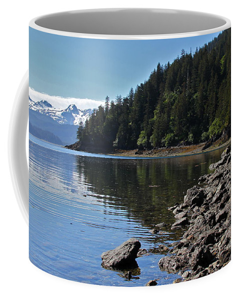 Shore Coffee Mug featuring the photograph Wilderness Cove by Rick Monyahan