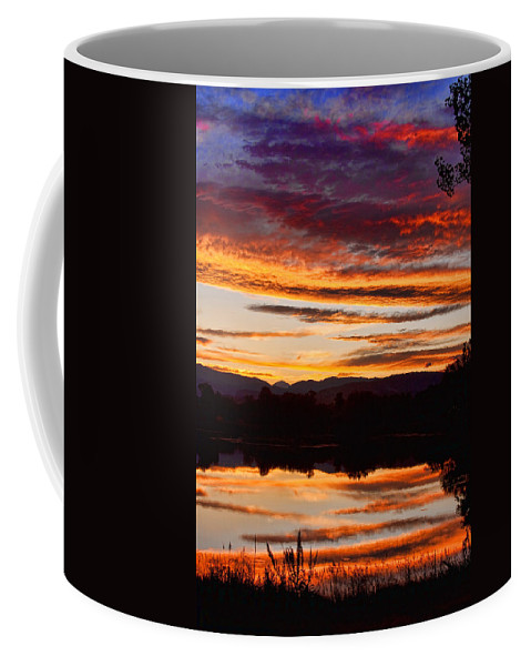Sunset Coffee Mug featuring the photograph Wildfire Sunset 1v by James BO Insogna