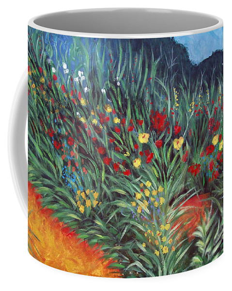 Landscape Coffee Mug featuring the painting Wildflower Garden 2 by Nancy Mueller