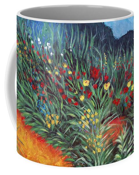 Landscape Coffee Mug featuring the painting Wildflower Garden 2 by Nancy Mueller