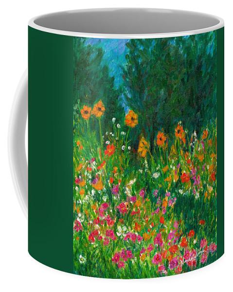 Wildflowers Coffee Mug featuring the painting Wildflower Rush by Kendall Kessler