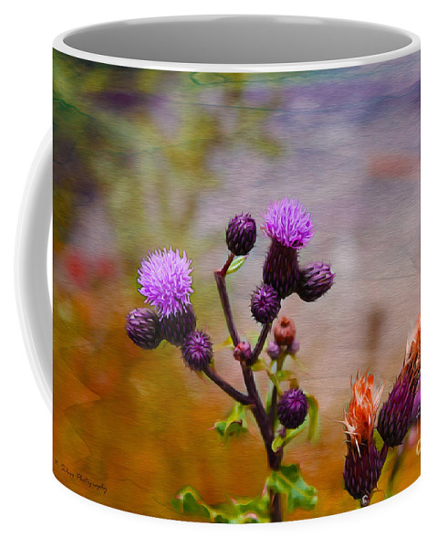Flowers Coffee Mug featuring the photograph Wildflower Watercolour by Nina Silver
