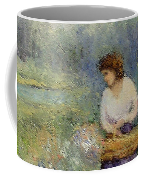 Woman Coffee Mug featuring the painting Wildflowers by Gail Kirtz