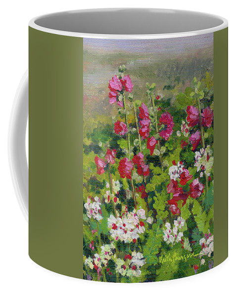 Impressionism Coffee Mug featuring the painting Wildflowers by Keith Burgess