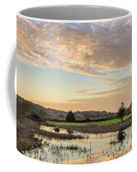 Humboldt Bay Coffee Mug featuring the photograph Wildlife Refuge Dusk by Greg Nyquist