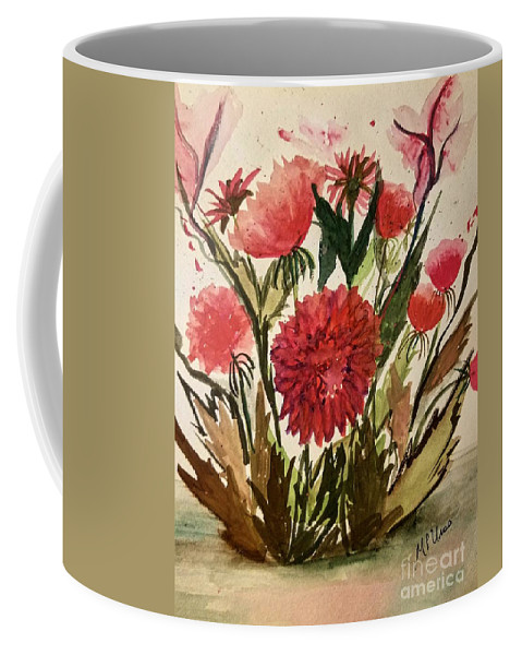 Wildly Red Coffee Mug featuring the painting Wildly Red by Maria Urso