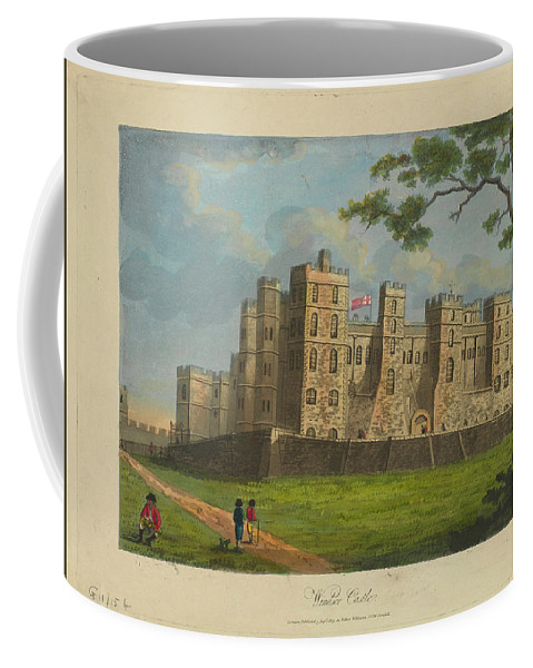 Nature Coffee Mug featuring the painting Wilkinson, Robert 58 Cornhill Windsor Castle Published 7 Aug 1813 by Wilkinson Robert