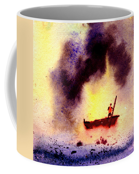 Landscape Coffee Mug featuring the painting Will Power by Anil Nene