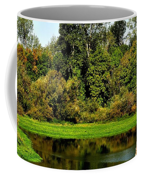 Oregon Coffee Mug featuring the photograph Willamette River Reflections 3813 by Jerry Sodorff