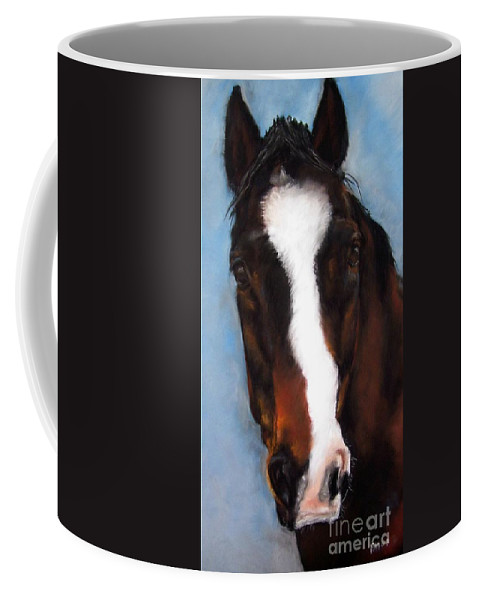 Horse Painting Coffee Mug featuring the painting Willie Duke by Frances Marino
