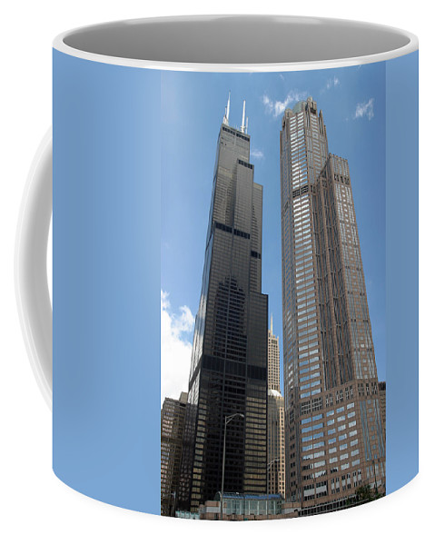3scape Coffee Mug featuring the photograph Willis Tower Aka Sears Tower And 311 South Wacker Drive by Adam Romanowicz