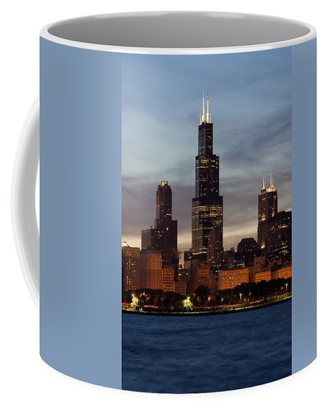 3scape Photos Coffee Mug featuring the photograph Willis Tower At Dusk Aka Sears Tower by Adam Romanowicz