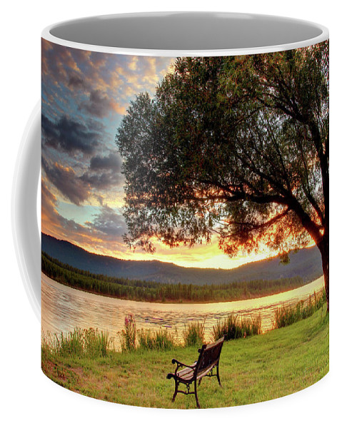Water Coffee Mug featuring the photograph Willow Bay by Timothy Eberly