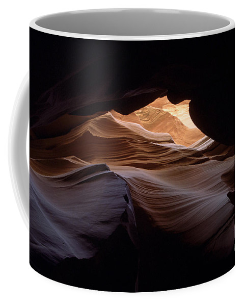 Antelope Canyon Coffee Mug featuring the photograph Wind And Water by Kathy McClure