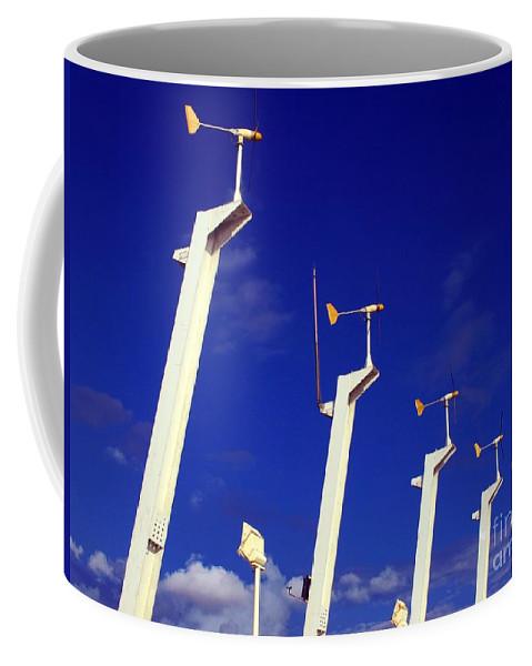 Windmill Coffee Mug featuring the photograph Wind Energy Turbines by Yali Shi