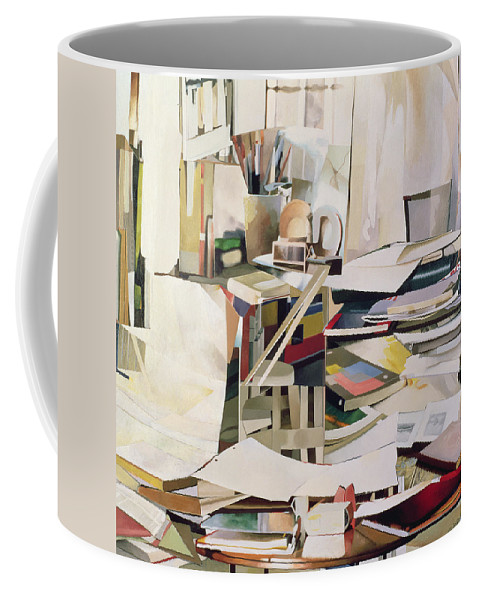 Exhibitions Coffee Mug featuring the painting Wind Of Change by Jeremy Annett