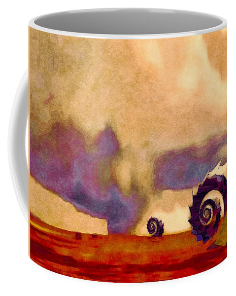 Science Fiction Coffee Mug featuring the photograph Wind World by Susan Maxwell Schmidt
