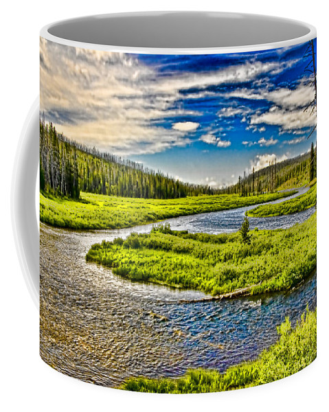 Water Coffee Mug featuring the photograph Winding by Ches Black
