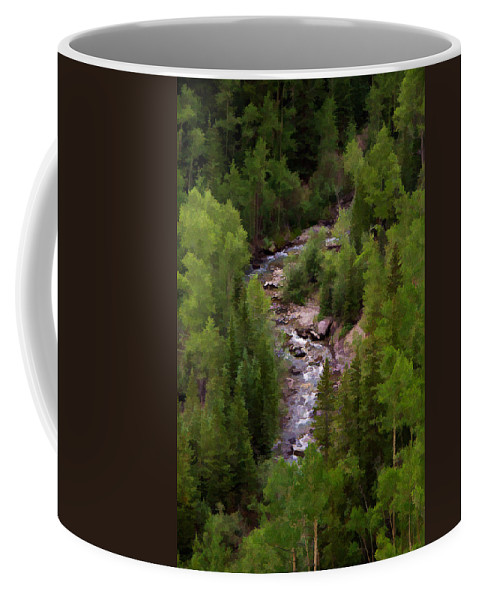 Colorado Coffee Mug featuring the photograph Winding Through by Lana Trussell