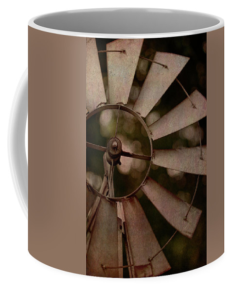 Photography Coffee Mug featuring the digital art Windmill At Dusk by Terry Davis