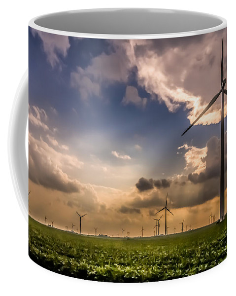 Alternative Energy Coffee Mug featuring the photograph Windmill Farm by Ron Pate