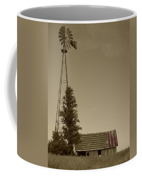 Landscape Coffee Mug featuring the photograph Windmill II by Dylan Punke