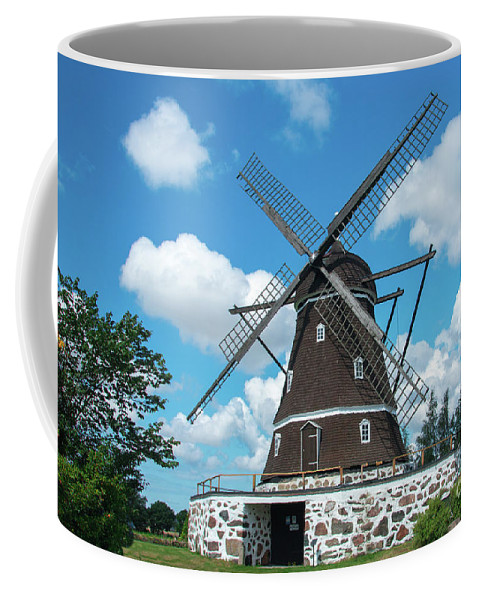 Countryside Coffee Mug featuring the photograph Windmill In Fleninge,sweden by Amanda Mohler