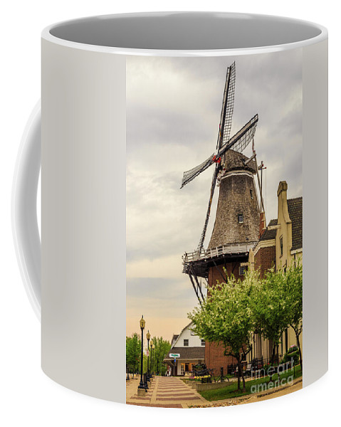 Windmill Coffee Mug featuring the photograph Windmill In The Clouds 2 by Terri Morris