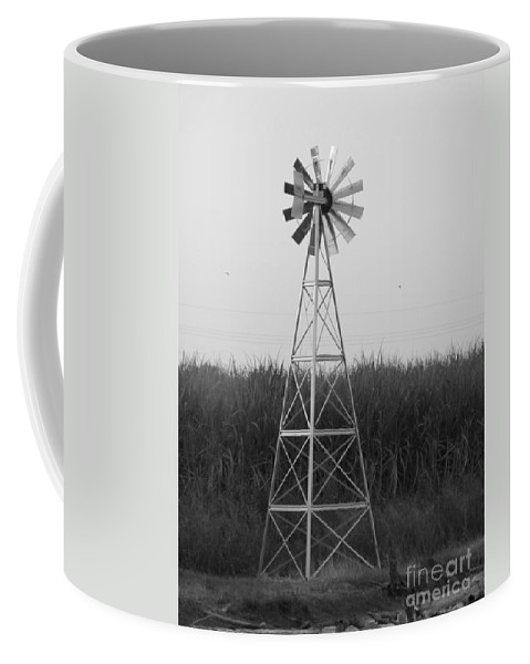 Black And White Coffee Mug featuring the photograph Windmill by Michelle Powell